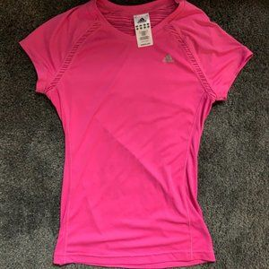 Adidas ClimaCool Hot Pink Short Sleeve Workout Top